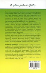 wLE GALLINE PAVA'NE DI GALILEO quarta di copertina